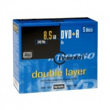 DVD+R INTENSO 8.5Gb Double Layer 8X - 5 unidades