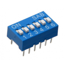 Dip Switch 12 Pinos - 6 Selectores