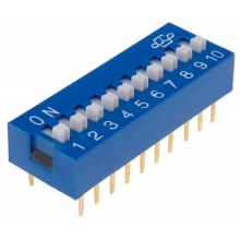 Dip Switch 10 Selectores