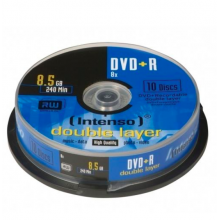 Pack 10x DVD+R Dupla Camada 8,5GB 8x - INTENSO