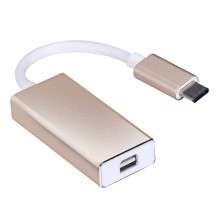 Adaptador USB tipo C 3.1 para Mini Displayport DP Macbook