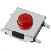 Tact Switch SMD SPST-NO OFF-(ON) - 6,2 x 6,2mm