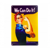 Placa metal decoração parede vintage - We Can Do It